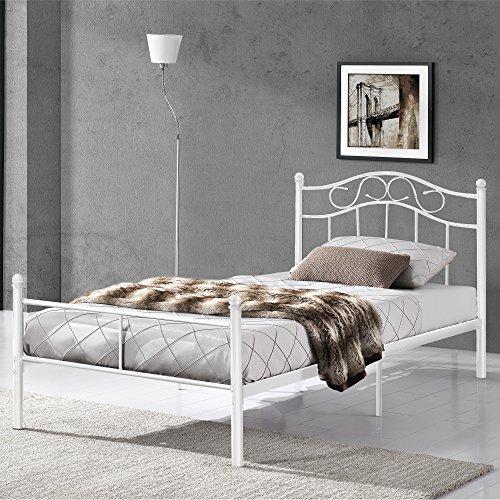 Cabecero de cama metal blanco